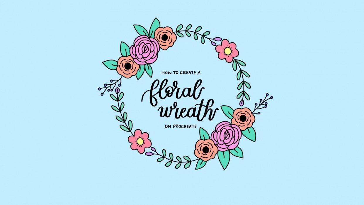 How to Create a Floral Wreath on Procreate - student project