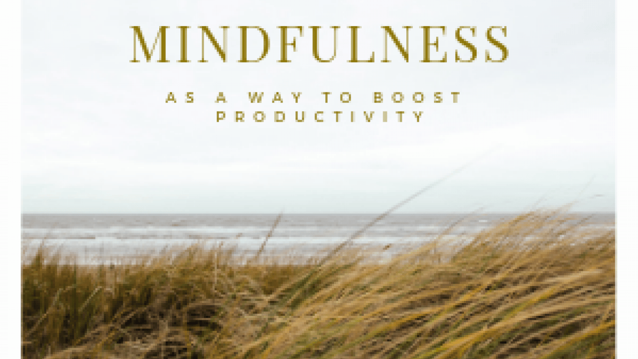 Mindfulness as way to boost Productivity - student project