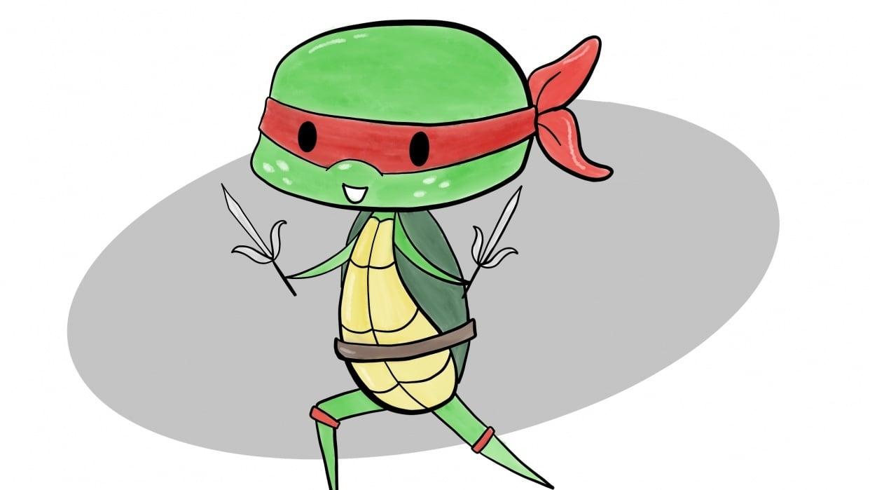 Raphael the Ninja Turtle - student project