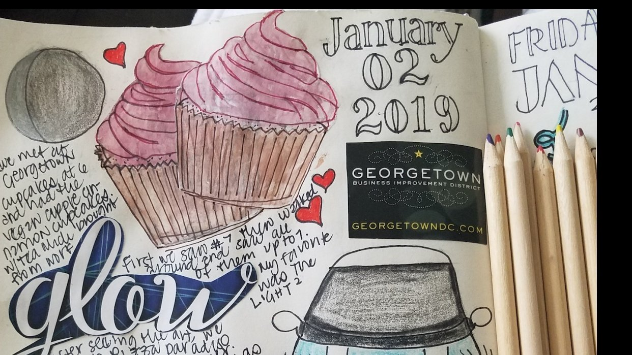 Sketchbook Journaling - student project