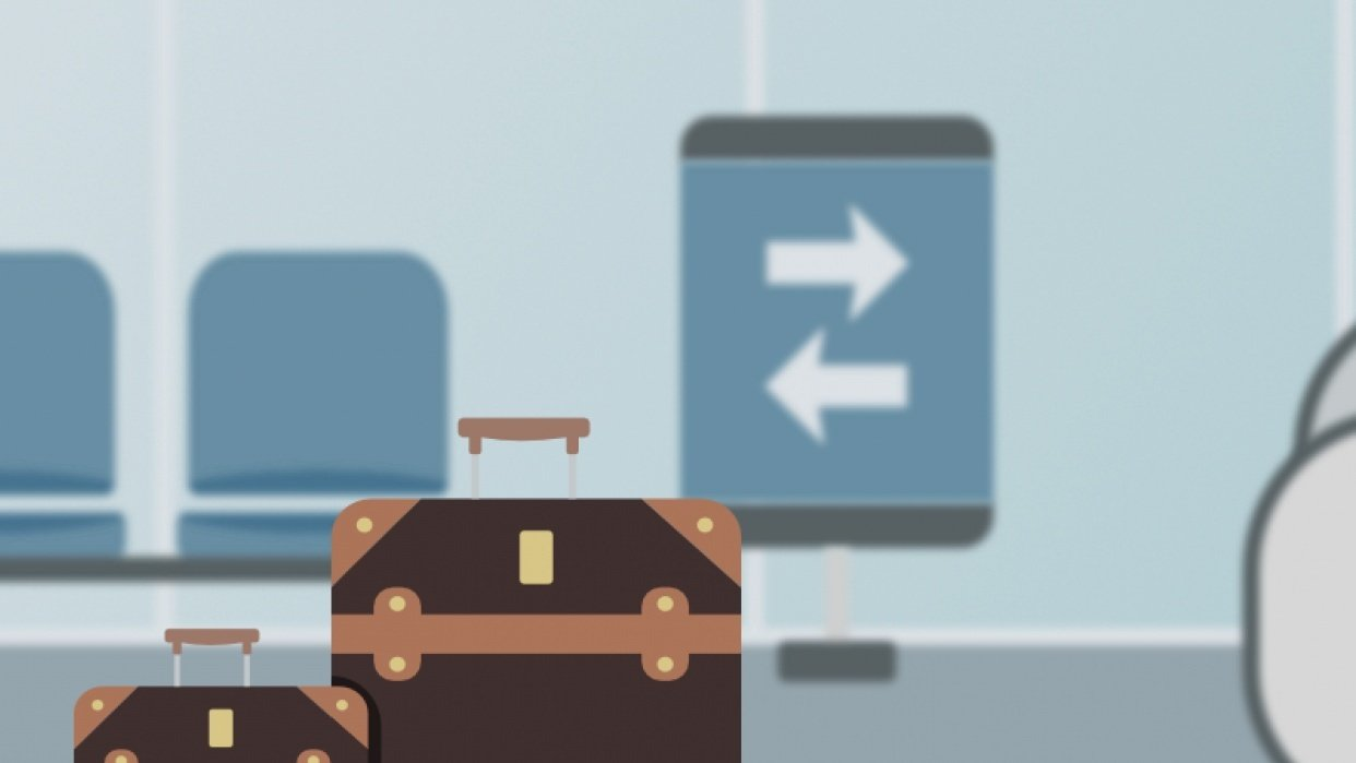 Terminal and luggage - student project