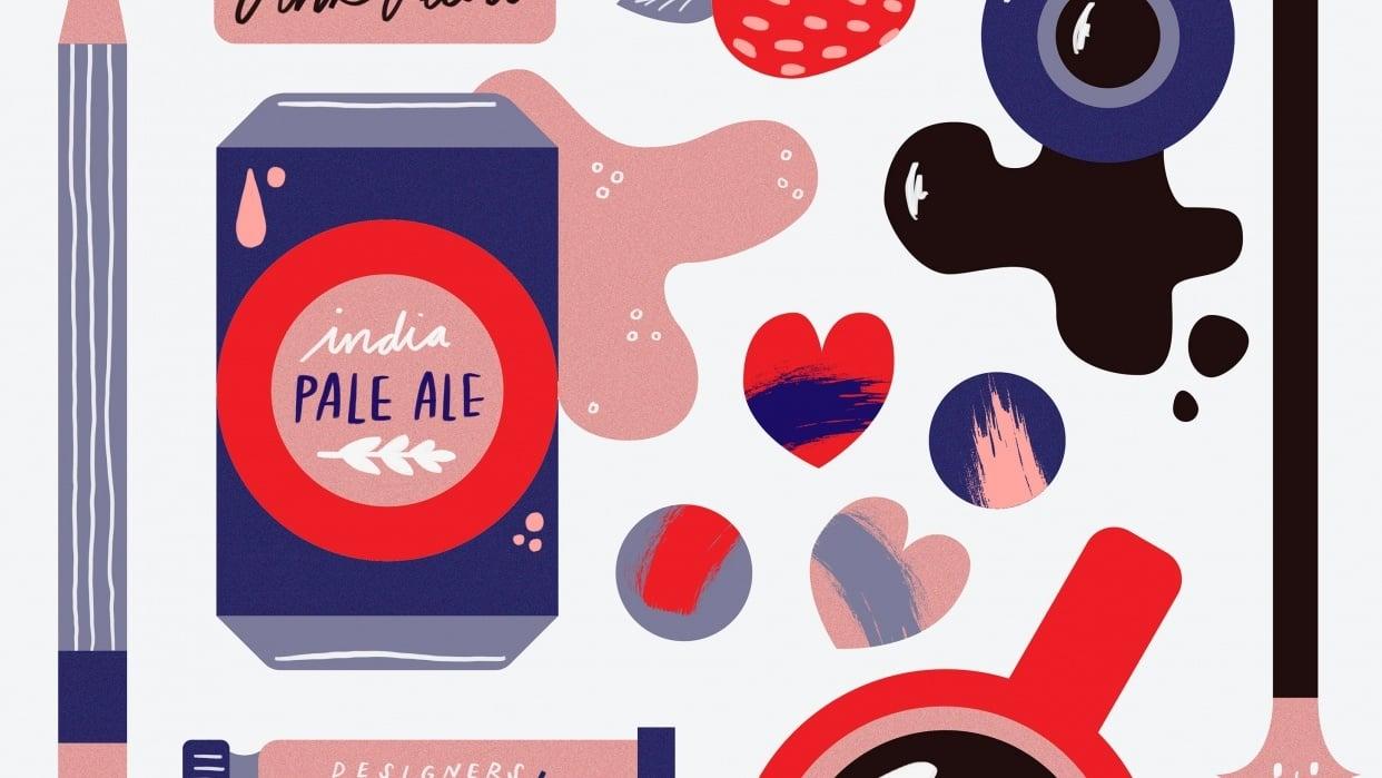Valentines Illustration Club - student project