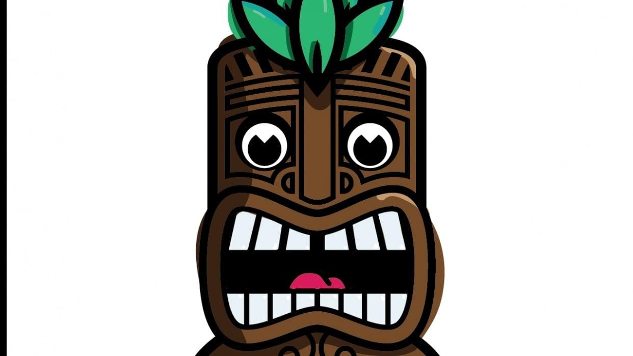 Tiki Man - Digital - student project