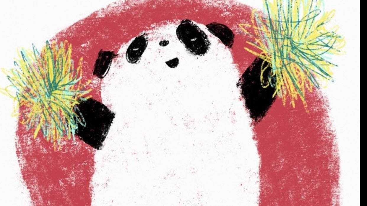 Cheerleading Panda - student project