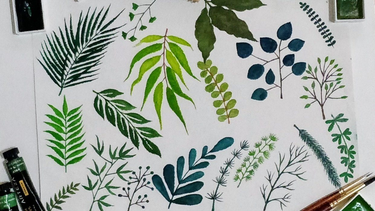 Leaf painttherapy - student project