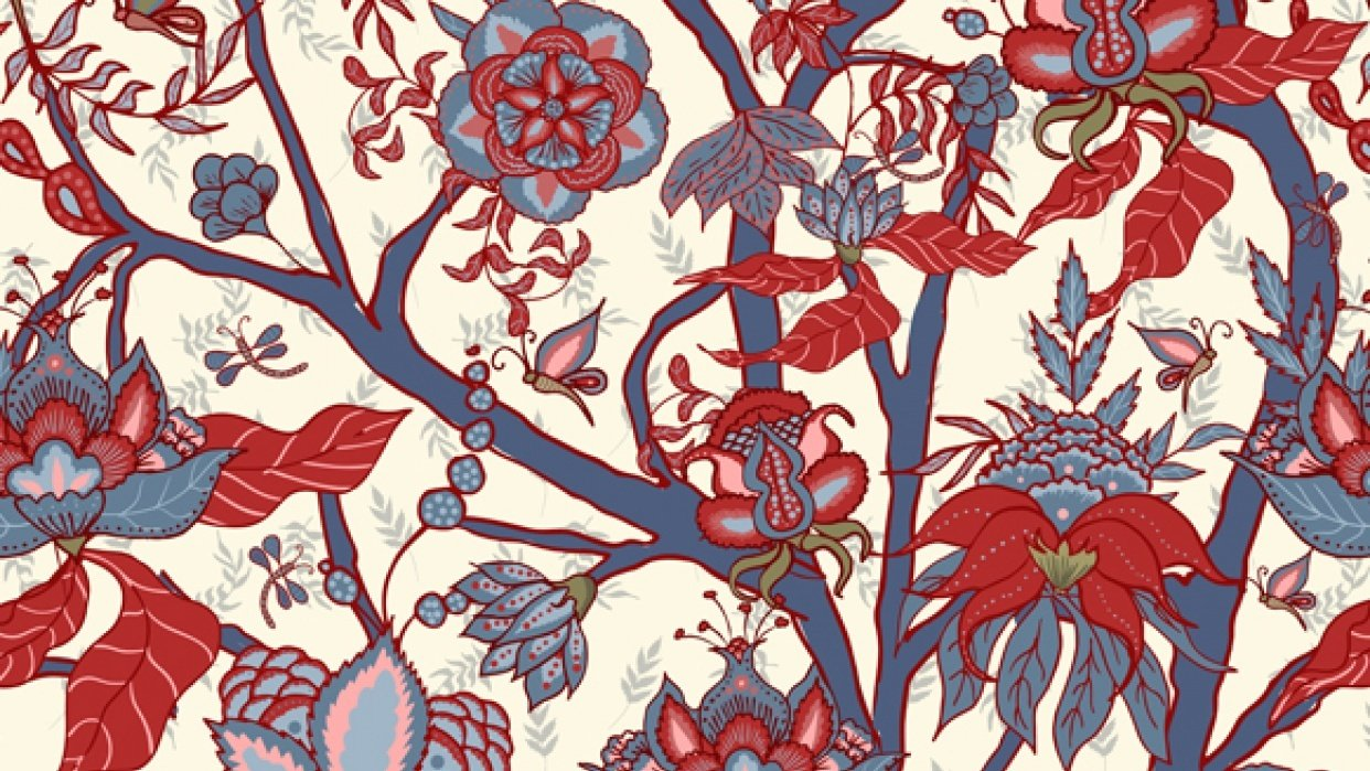 Indian floral pattern - student project