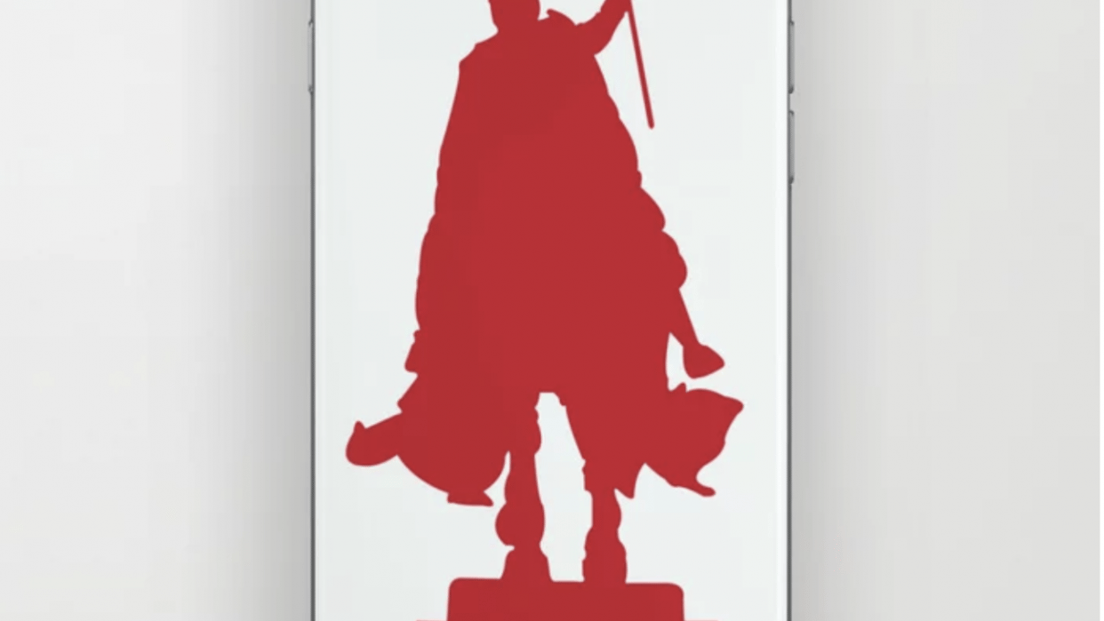 A Knight in Saint Louis (phone skin) - student project