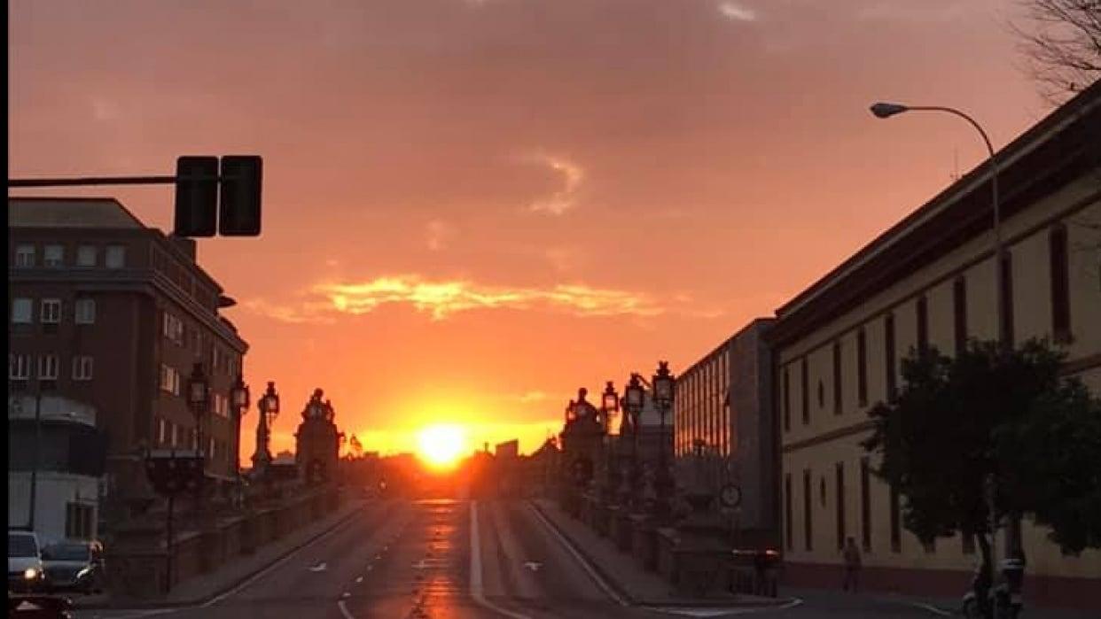 Sunrise in Sevilla - student project