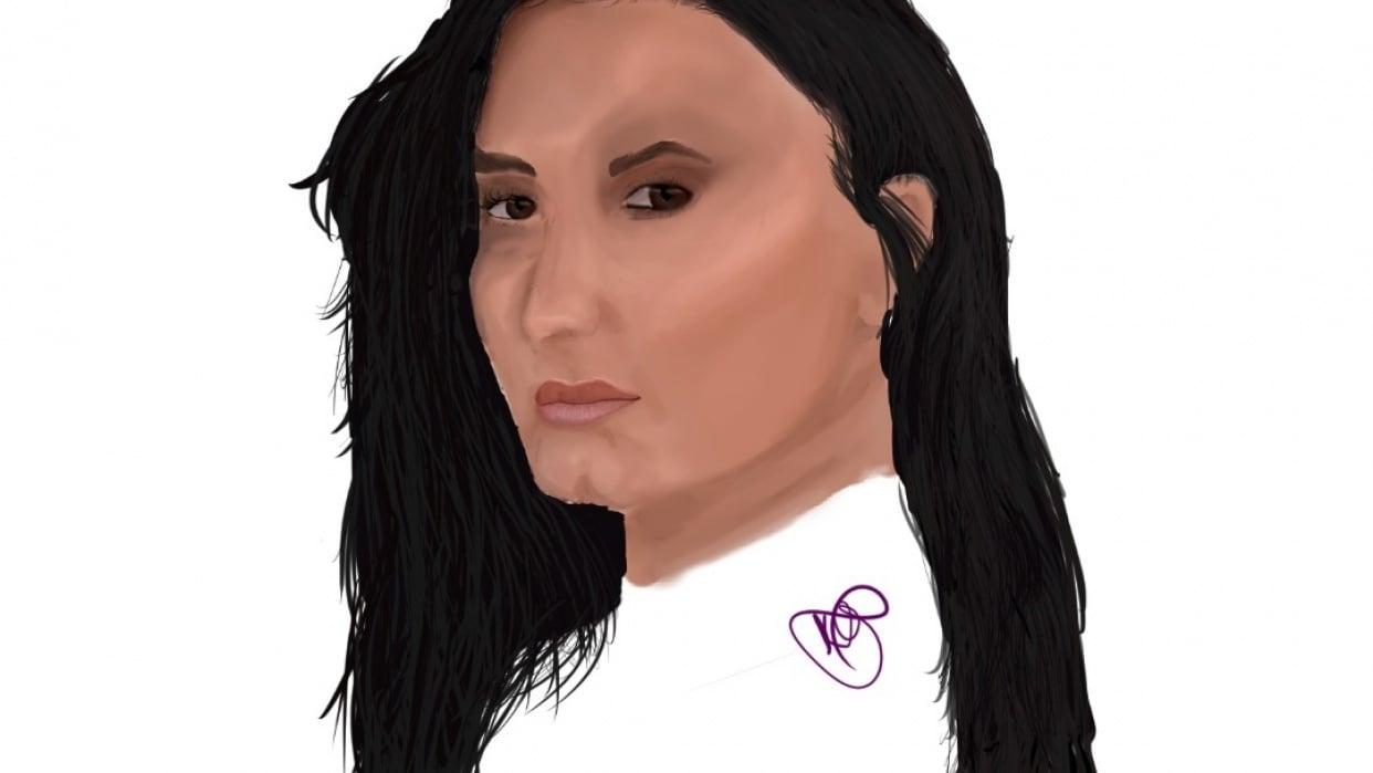 Demi lovato.  My first digital portrait - student project
