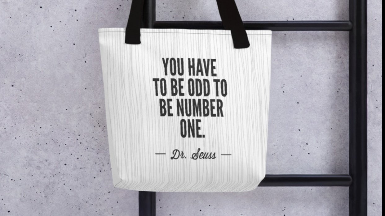 Dr. Seuss Quote Tote - student project