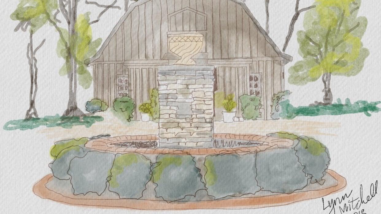 Wedding barn in Alabama - student project
