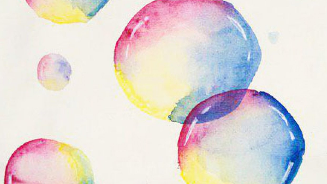 Loose & Lively Watercolor Bubbles - student project