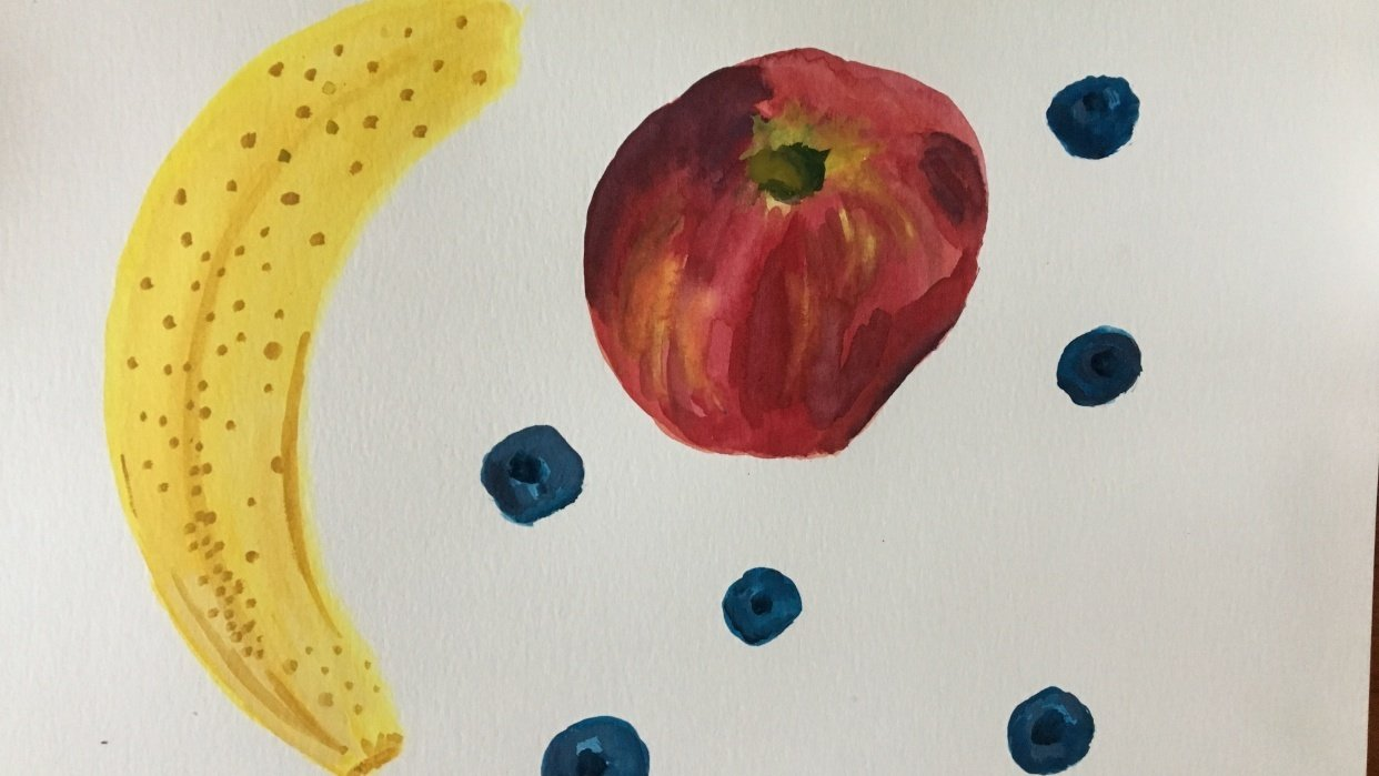 still life painting - student project