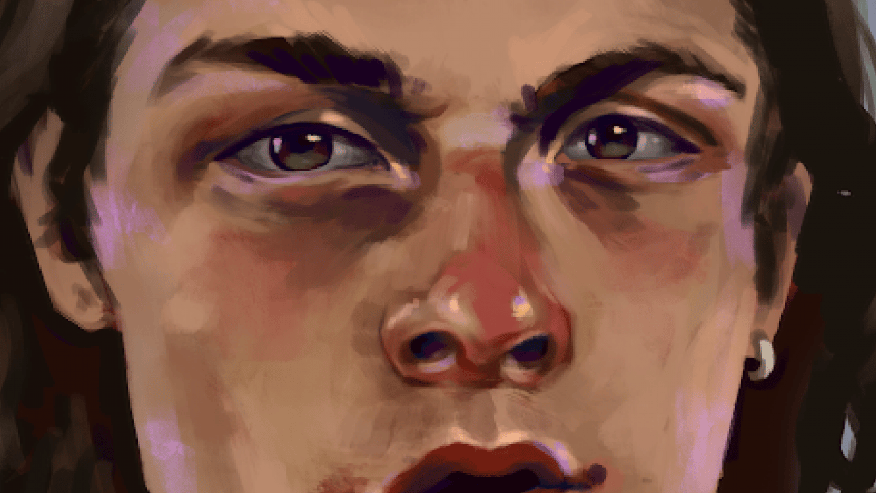 my first painting in photoshop - i used a reference - student project