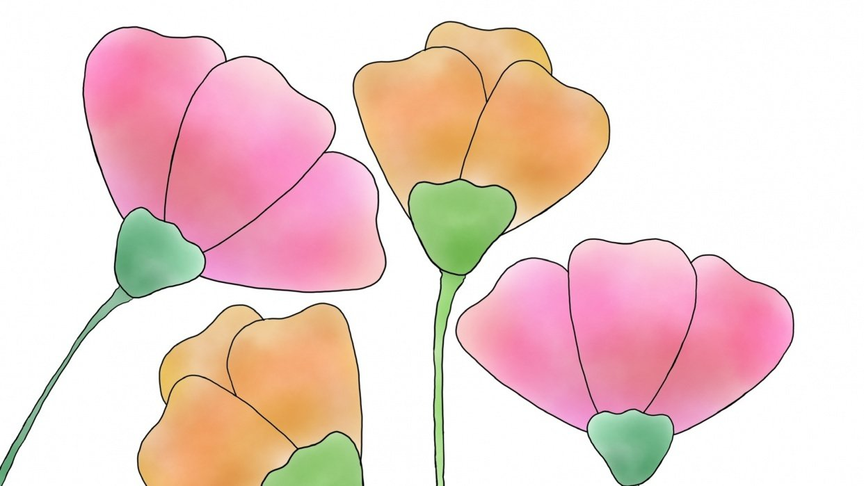 Pastel flowers - student project