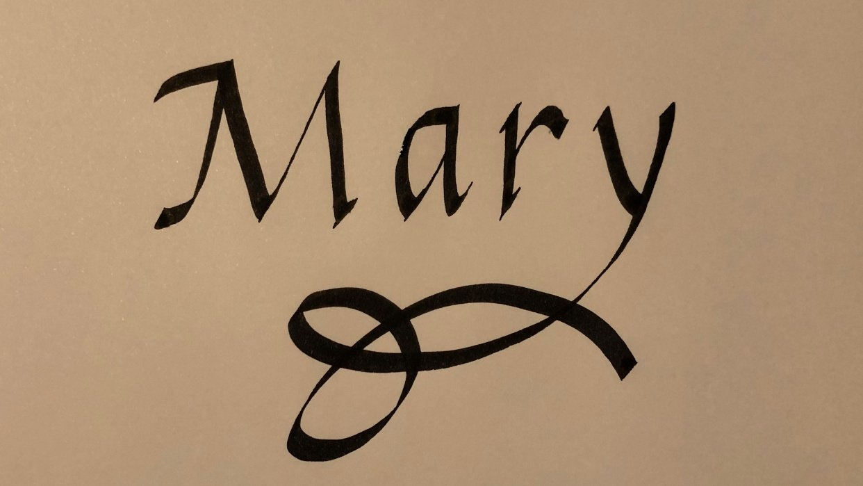 Italic Calligraphy - student project