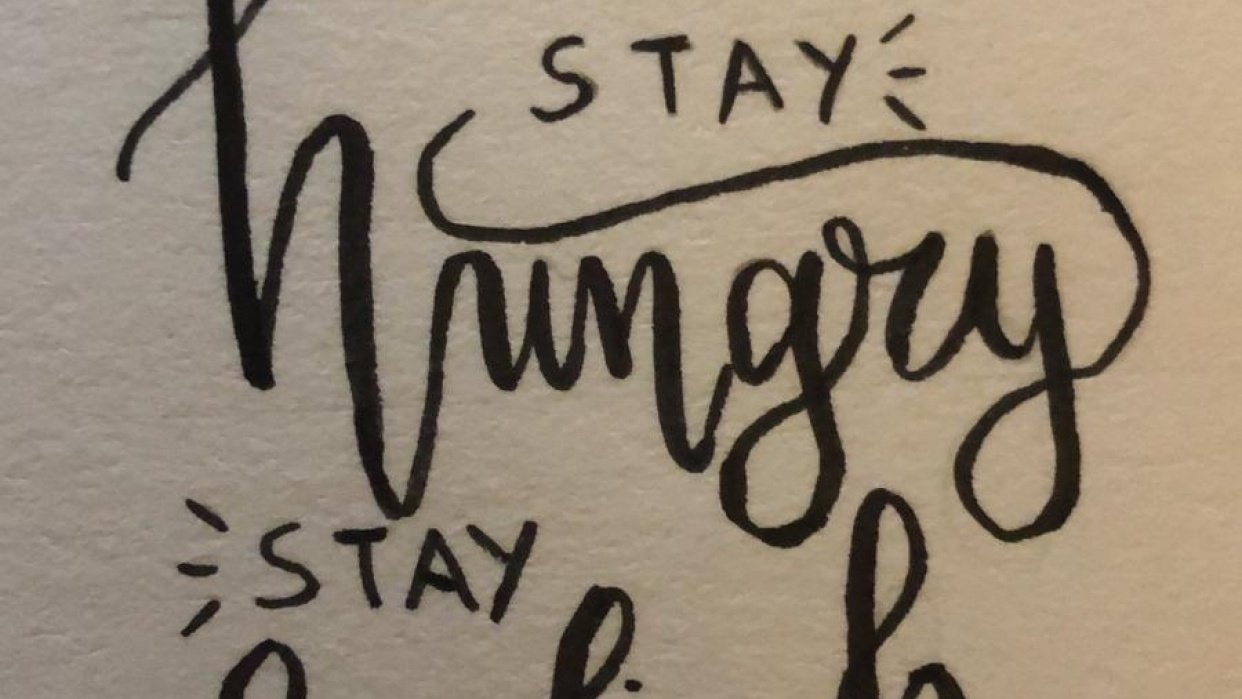 Stay hungry Stay foolish - student project