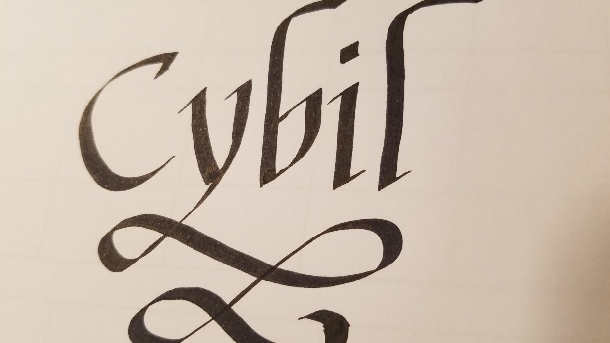 Working on my name! - student project