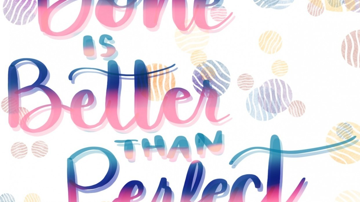 Intro to Procreate Lettering Quote - student project