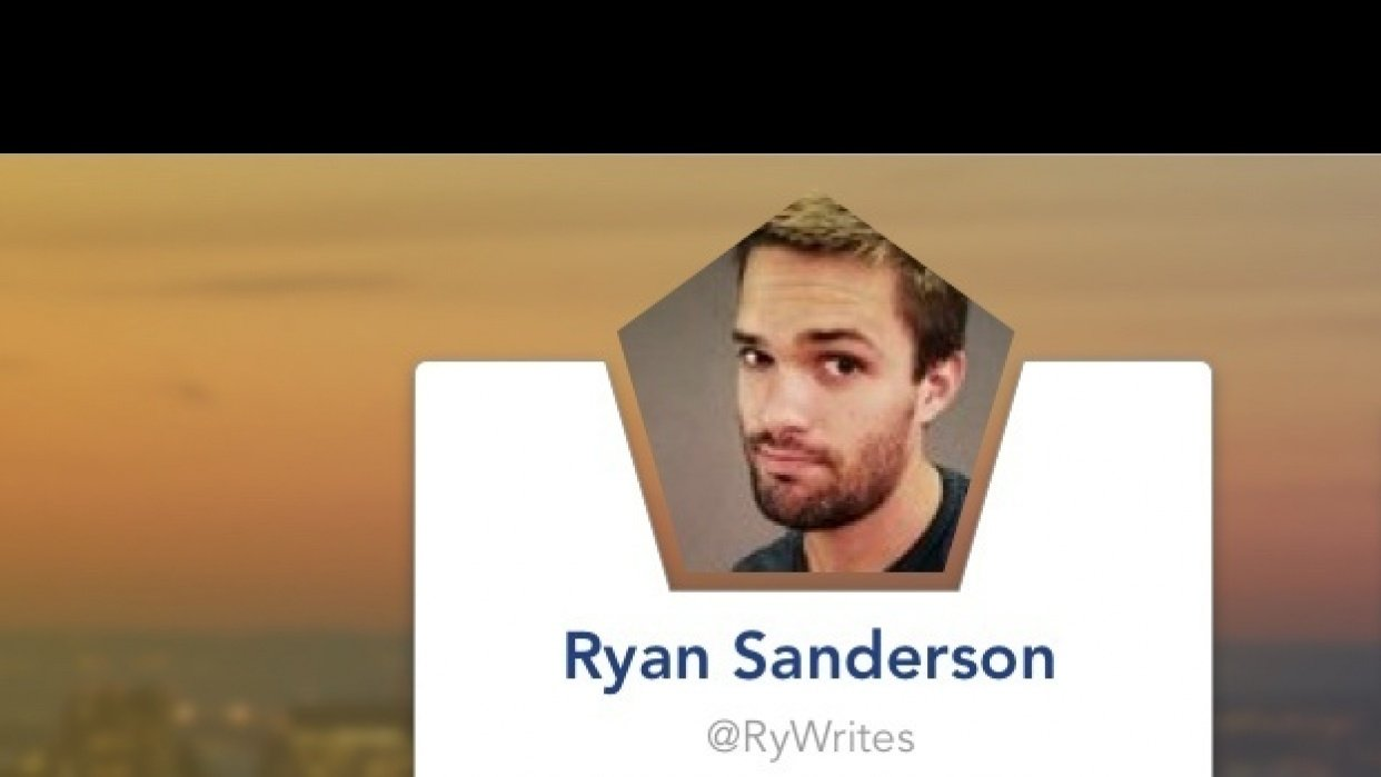 Twitter Polygon Profile Card - student project