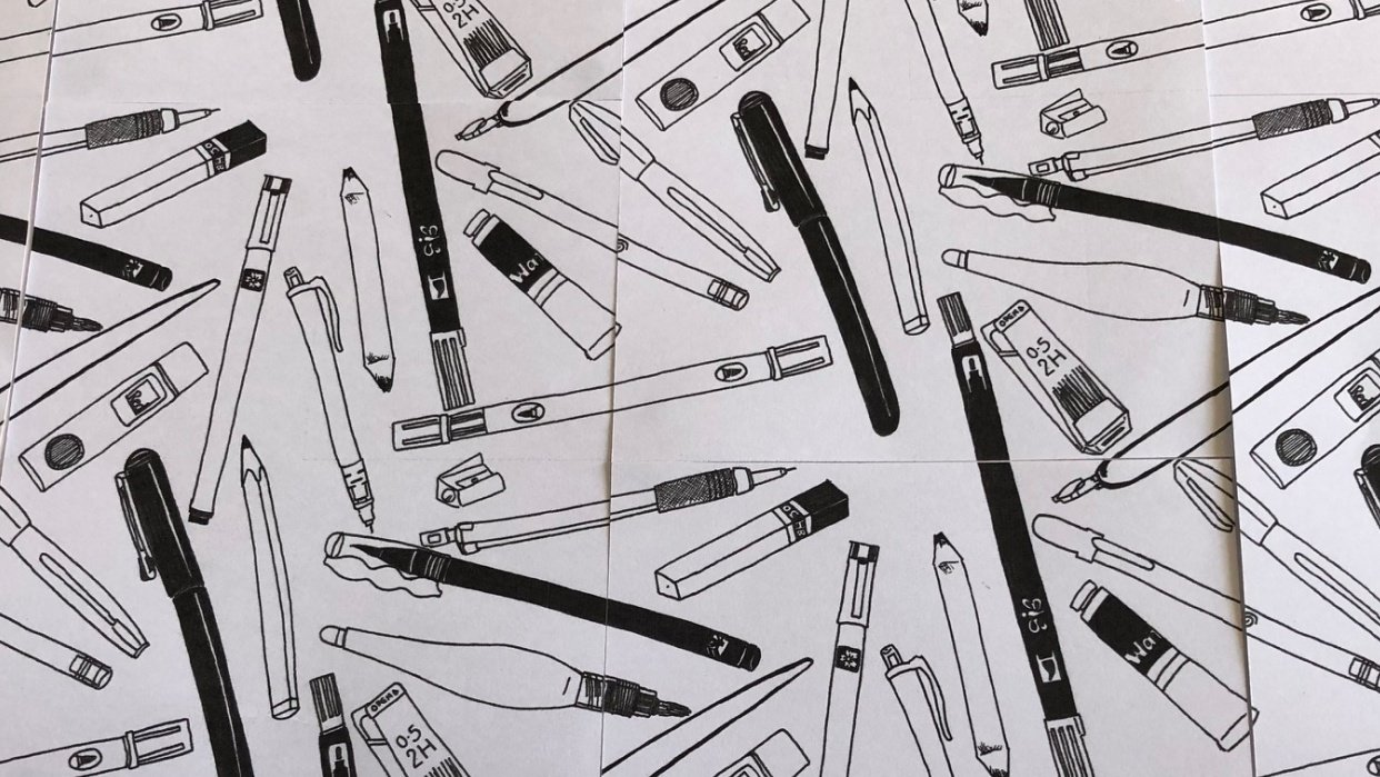 My Favourite Things: Stationery Pattern - student project