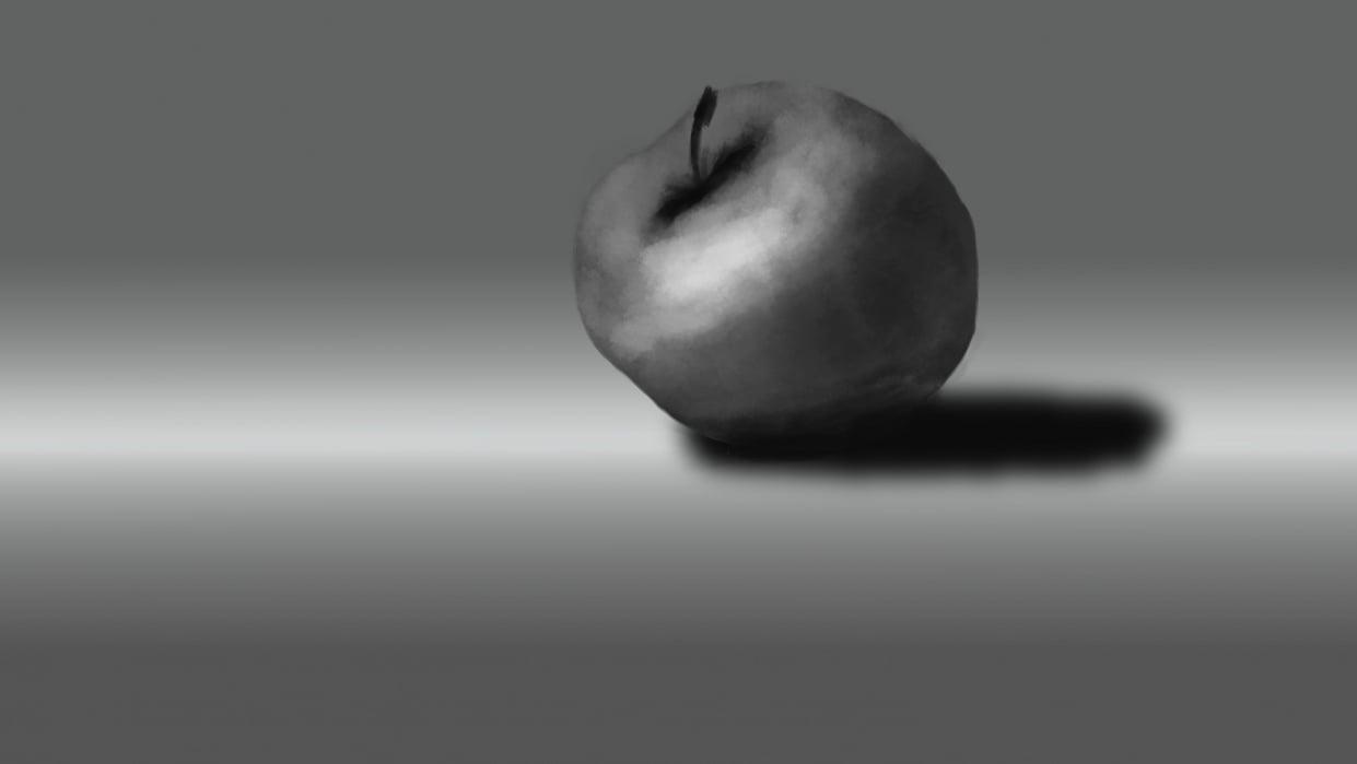 Apple Still Life - student project