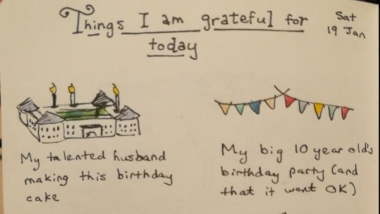 Things I'm grateful for - student project
