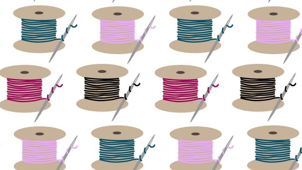Spools of Thread Pattern - student project