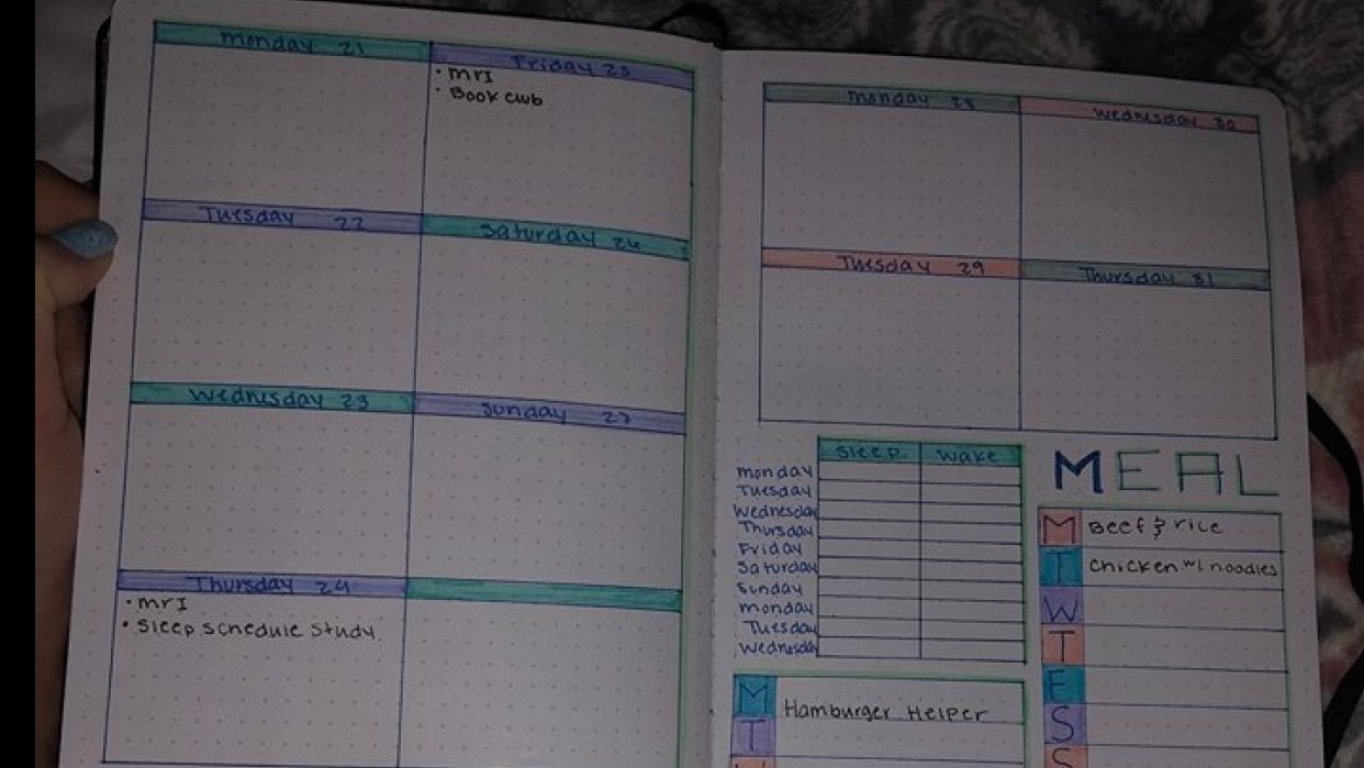 Bullet Journal and Additional Plans - student project
