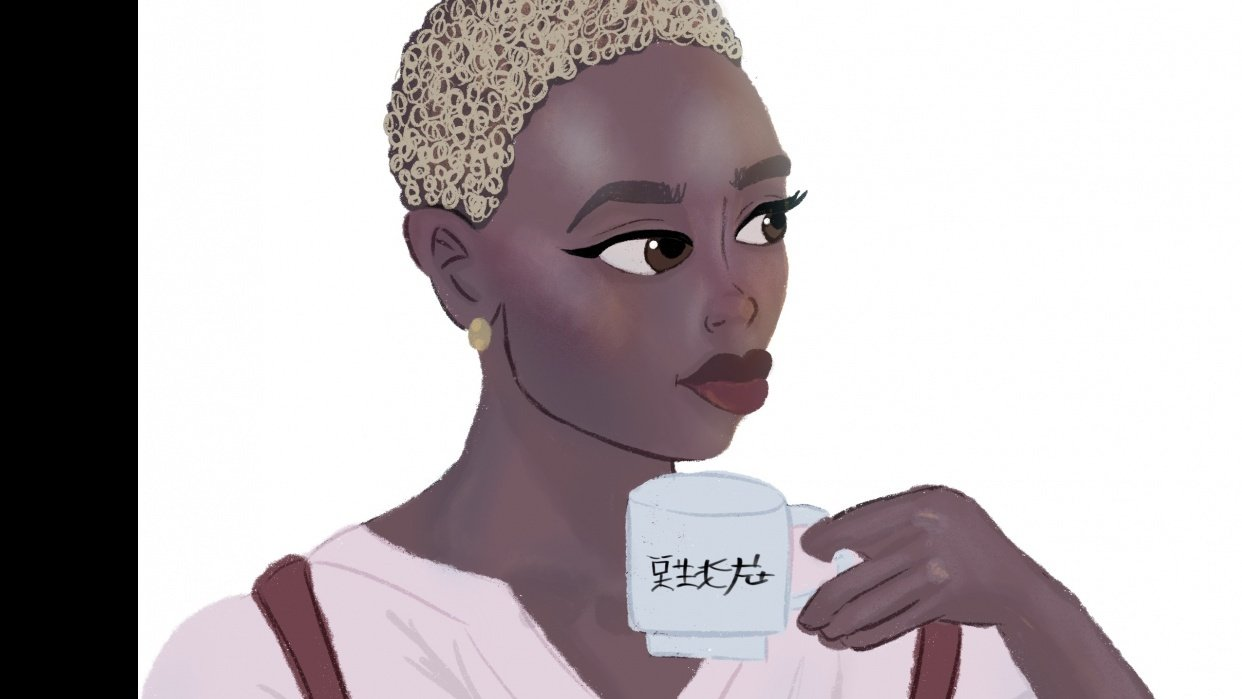 Girl with Tea - student project