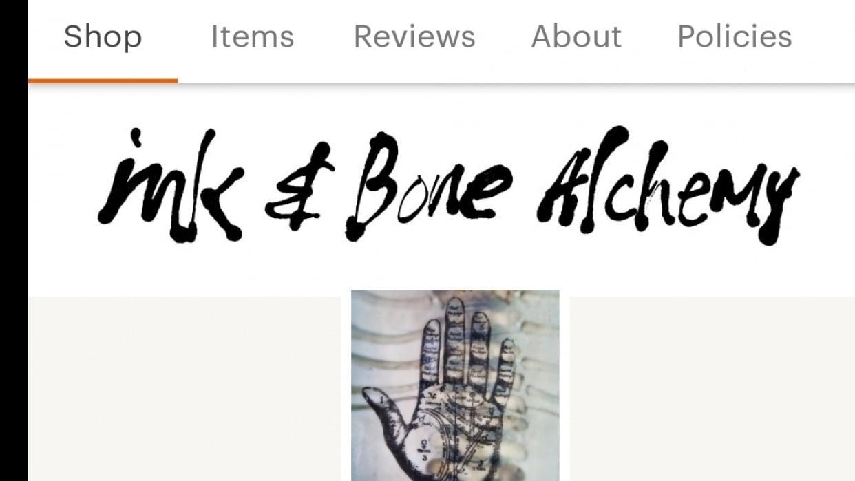 My Etsy shop - Ink & Bone Alchemy - student project