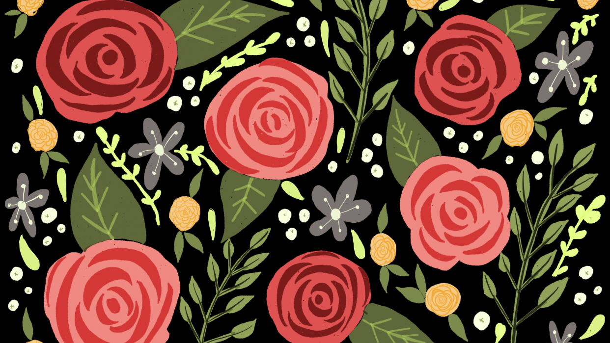 Colorful Florals Using Paper 53 - student project