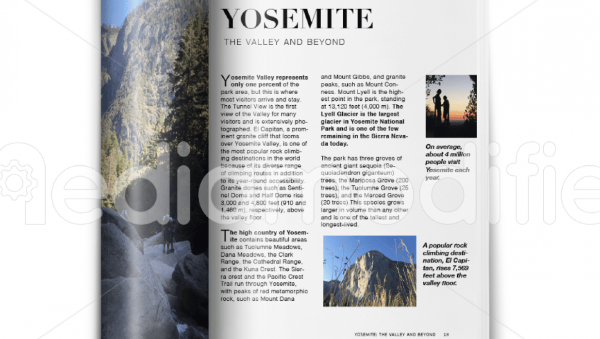 YOSEMITE: The Valley and Beyond - student project