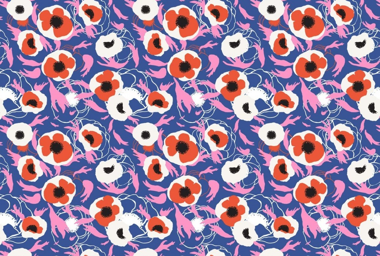 Layered floral pattern - student project