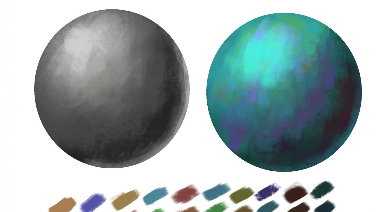 Value and color practices - student project