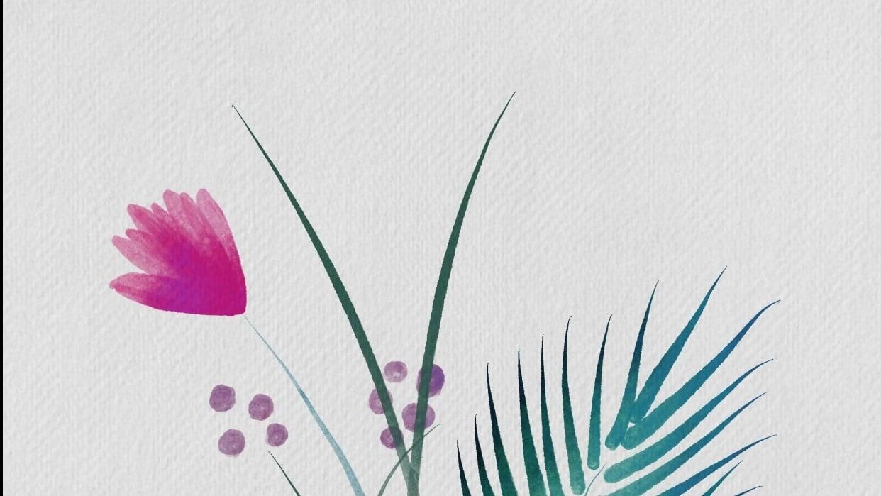 Digital watercolors - student project