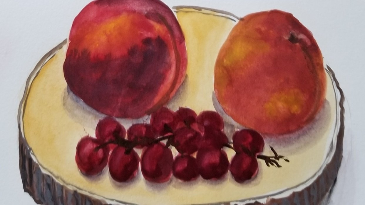 Fruits in Gouache - student project