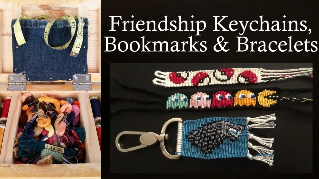 Friendship Keychains, Bookmarks & Bracelets - Working with multi-color patterns - student project