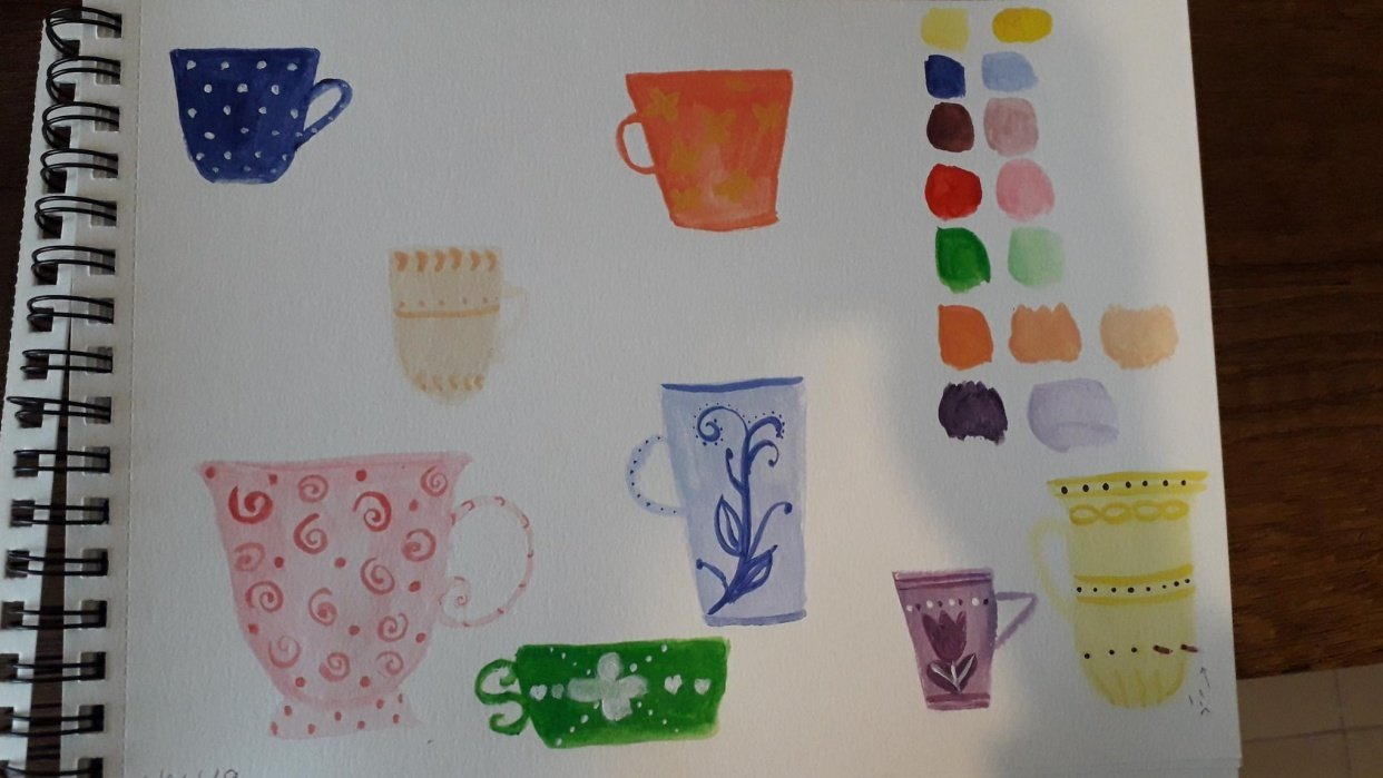Teacups & Kitchen Items - student project