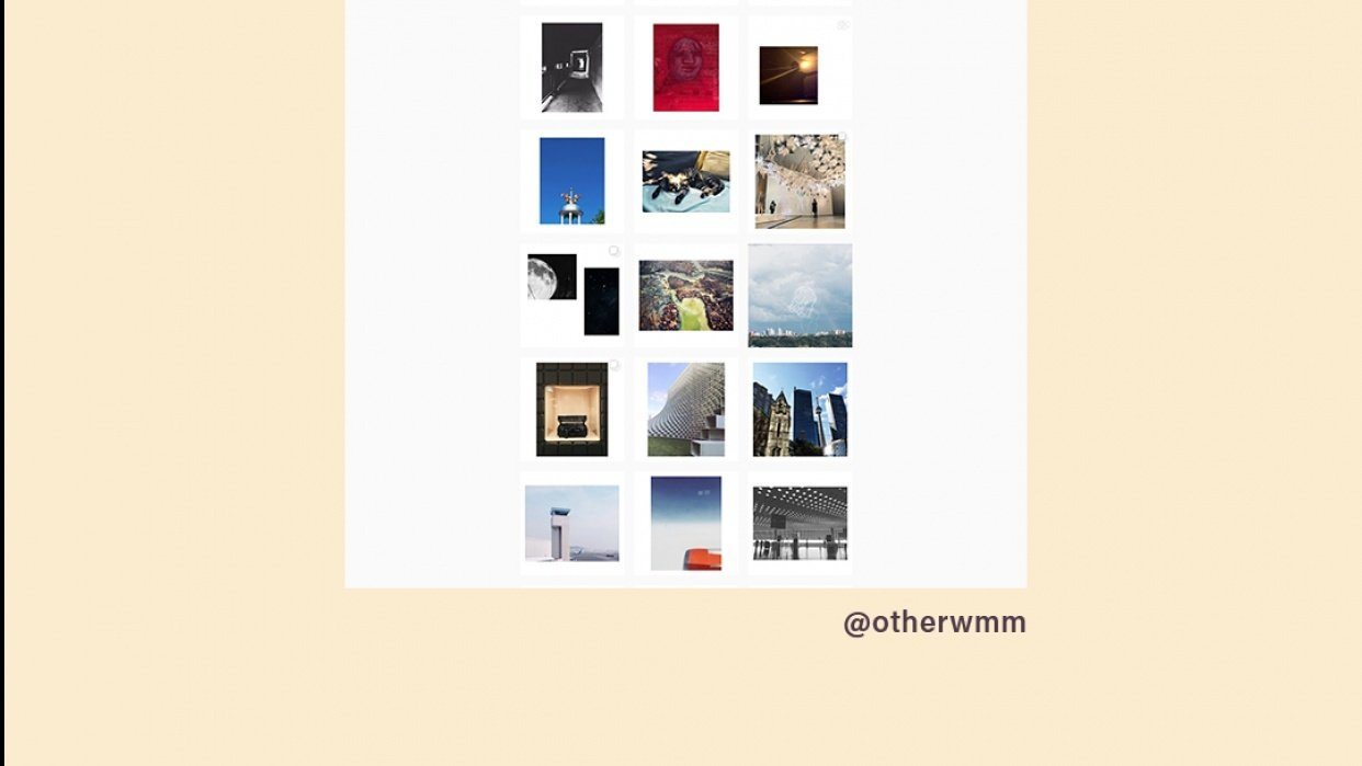 Instagram Testing @otherwmm - student project