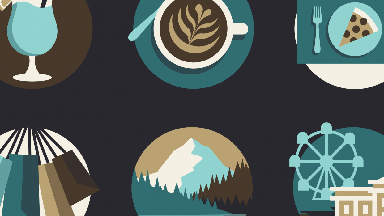 Travel Guide Icons - student project