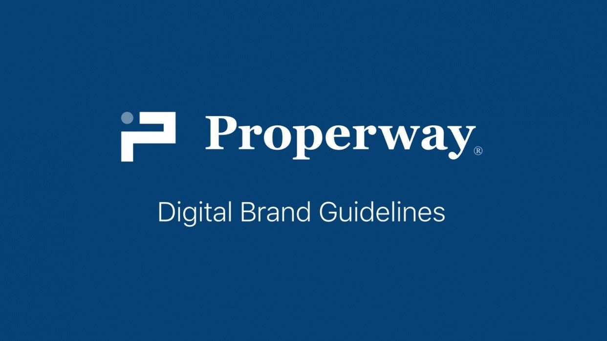 Properway brand styleguide - student project