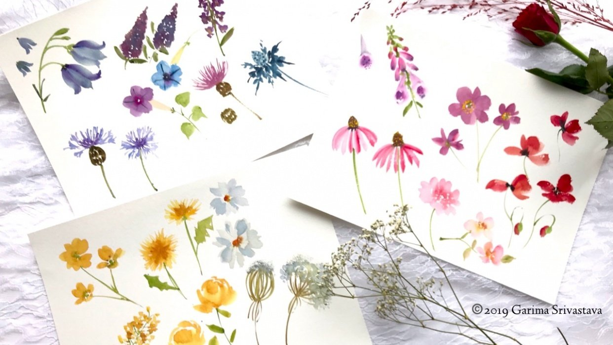 Watercolor Wildflowers: 2 Fun Projects - student project