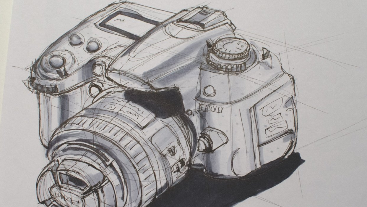 Sketching a DSLR - student project