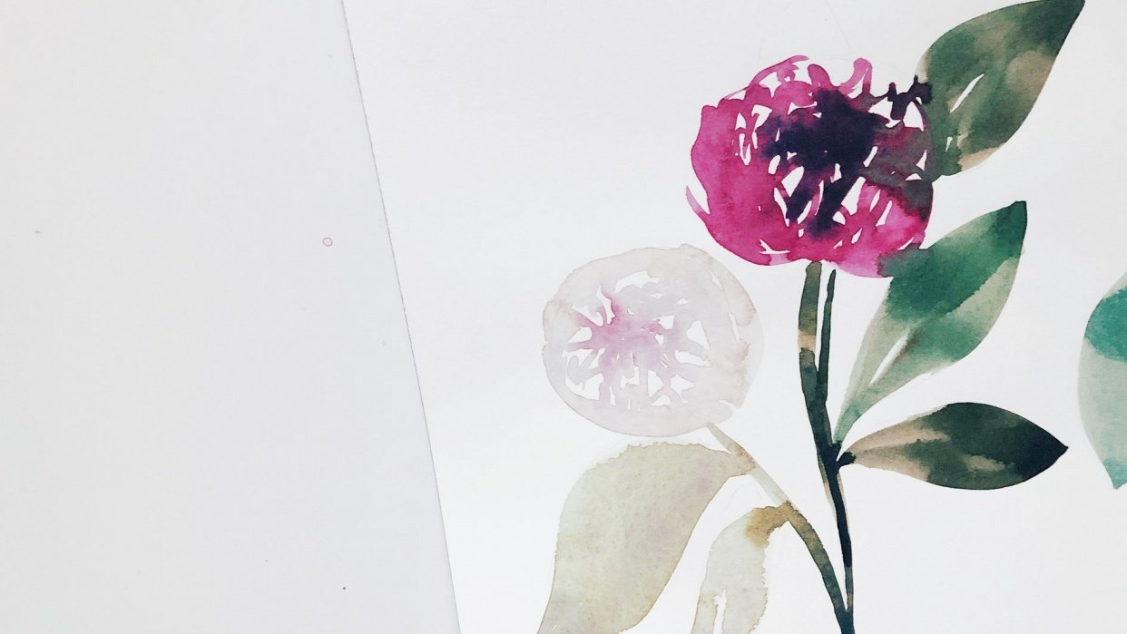 Watercolor Exploration - student project