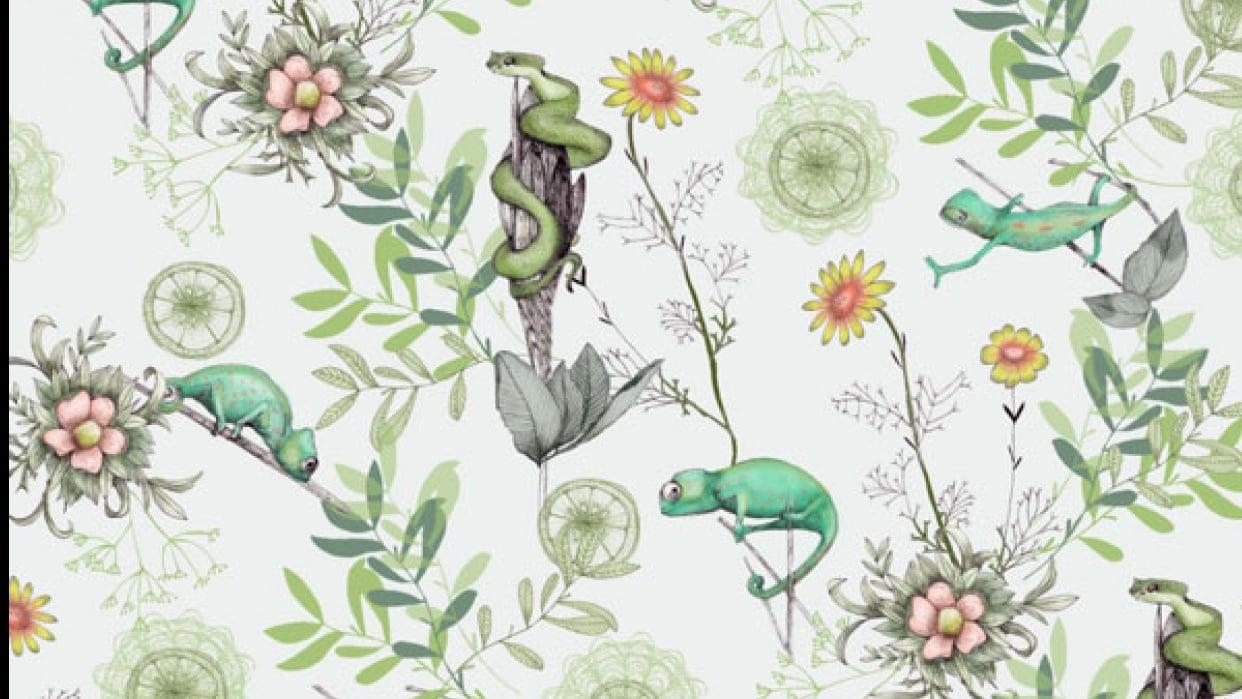 Kelly Kratzing - freelance surface pattern designer + illustrator - student project