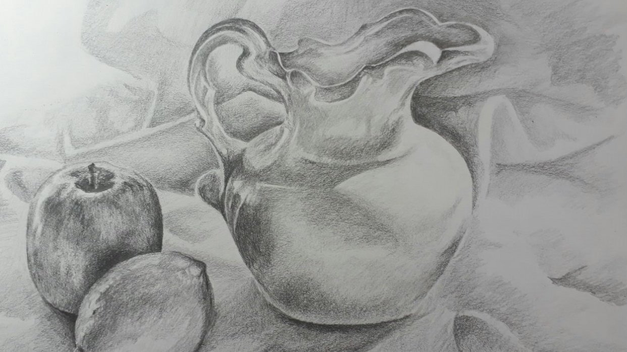 Still life Pitcher - student project