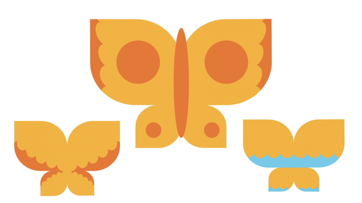 Drawing Butterflies in Illustrator - student project