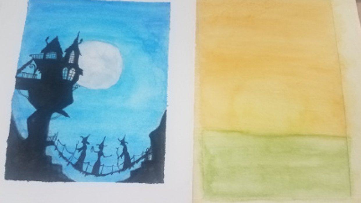 watercolor wash projects - student project