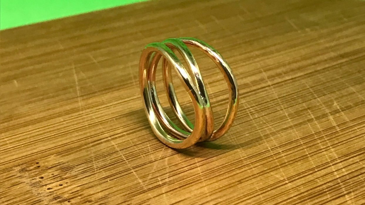 Sea Waves Ring - student project